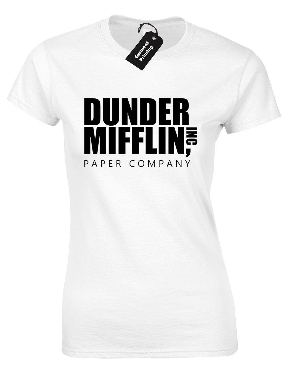 DUNDER MIFFLIN LADIES T SHIRT THE OFFICE MICHAEL SCOTT DWIGHT FUNNY QUALITY  Fun Tee Shirts Silly T Shirts From Yuxin03 0328bbb40