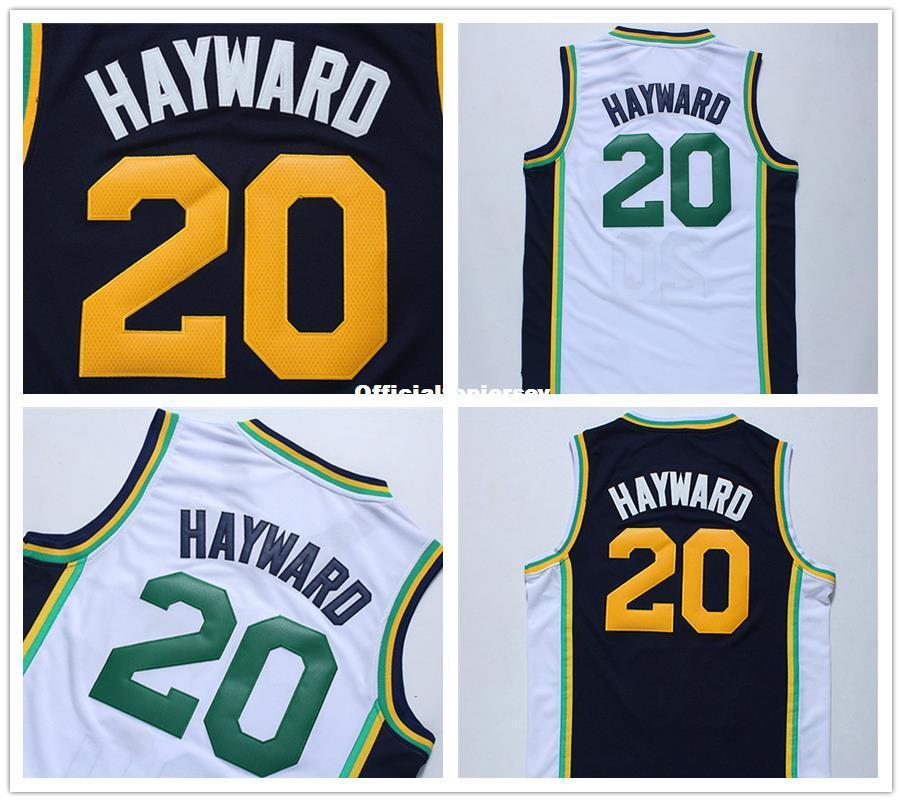 Cheap Best New Men s Basketball Jerseys  20 Gordon Hayward Jersey ... 2aef85a4d