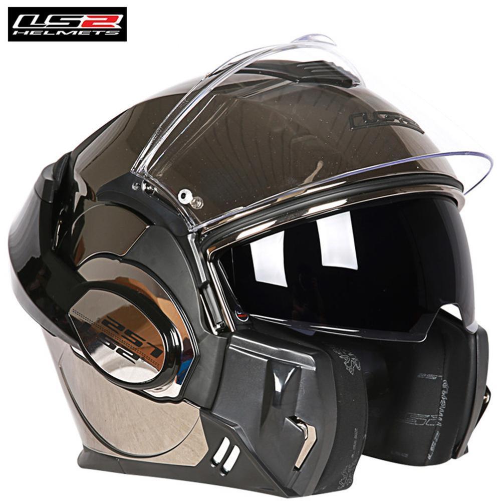 fbc1c5dc66c9b Compre LS2 FF399 Valiant Casco De La Motocicleta Convertible Flip Up  Modular Racing Casque Casco Moto Capacetes De Motociclista Cruiser A  774.4  Del ...