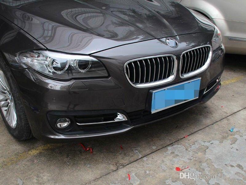 Chrome Front Fog Light Eyebrow Cover Trim for BMW 5 Series F10 520Li 525Li 2014-2017 Car Accessory