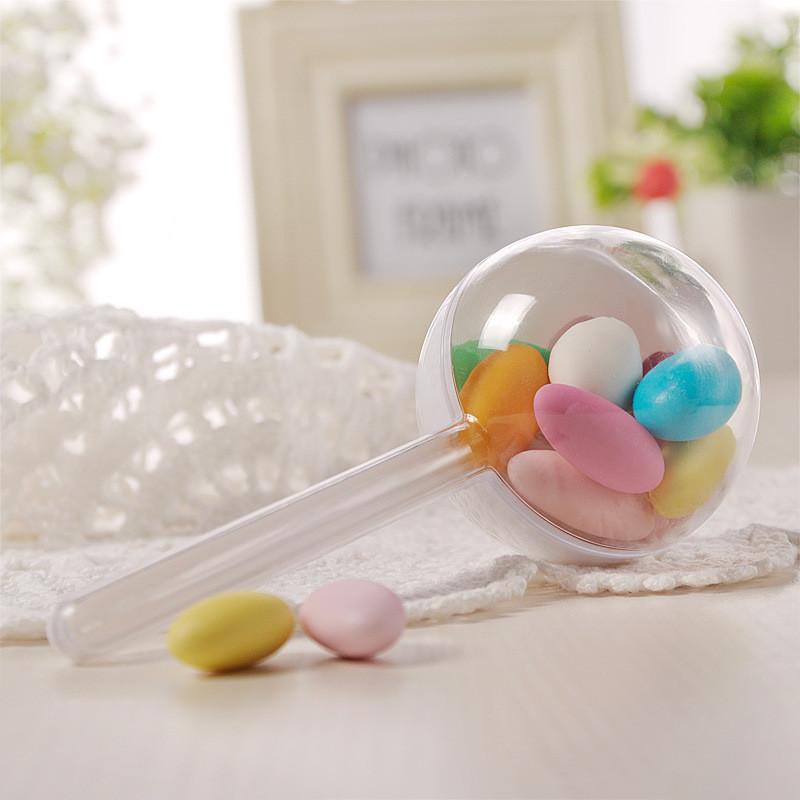 12 adet 6 cm Lolipop Şeffaf Plastik Şeker Kutusu Düğün Süslemeleri Bebek Duş Noel Doğum Günü Partisi Iyilik Ve Hediyeler