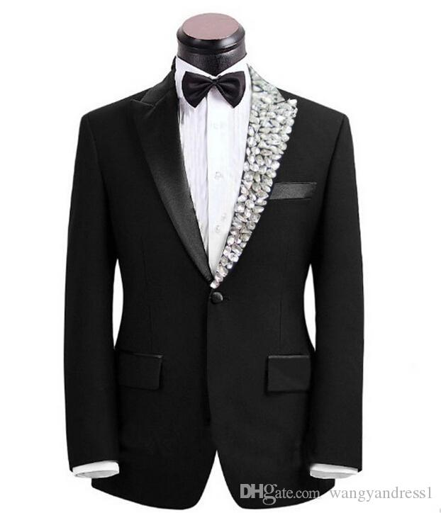 Hot Sale Custom Made Wedding Suits Handsome Tuxedos Prom Suits ...