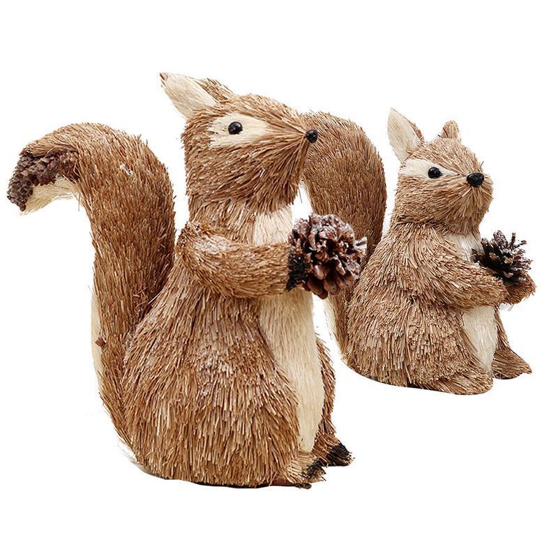 Großhandel Weihnachten Eichhörnchen Puppe Weihnachtsschmuck ...