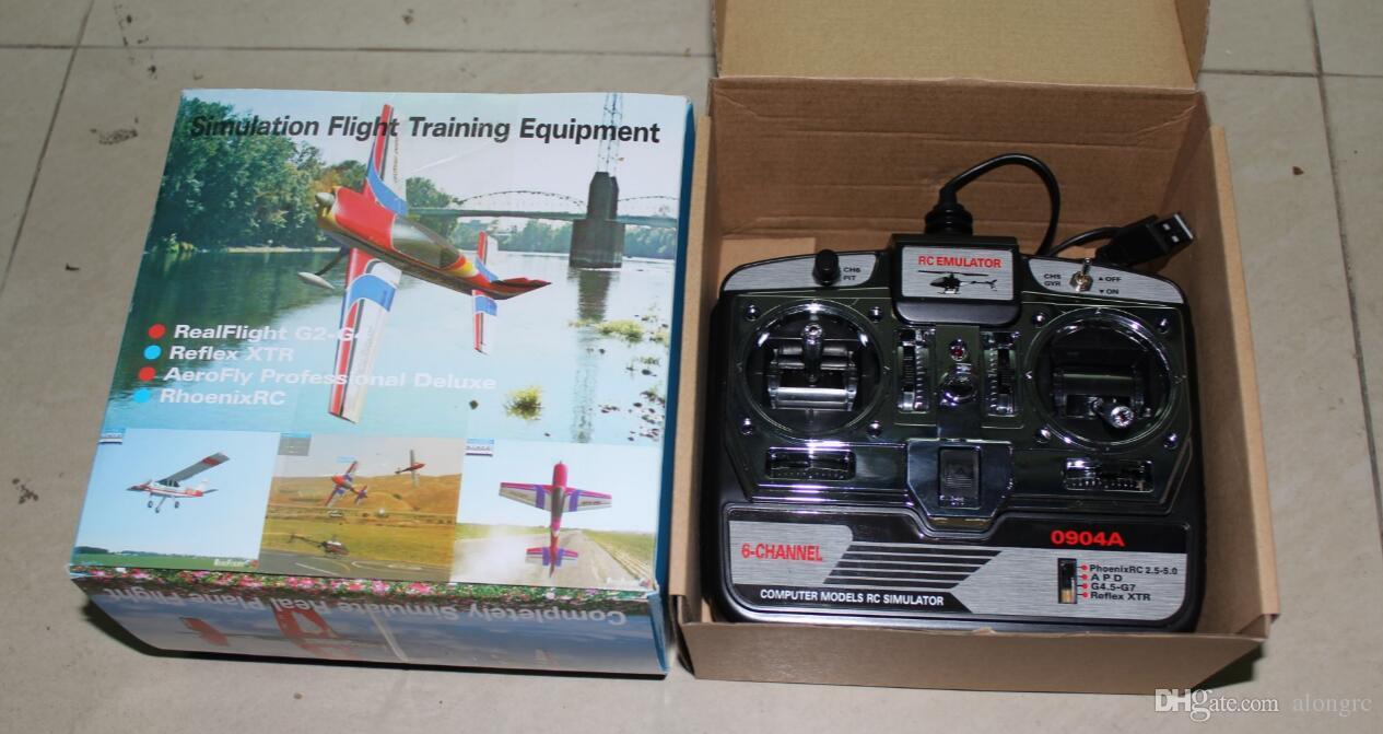 6CH RC Simulator Real Flight Hubschrauber 3D Flugzeug MultiCopter Quad Simulator JTL-0904A Modell 1 / Modell 2 Mit