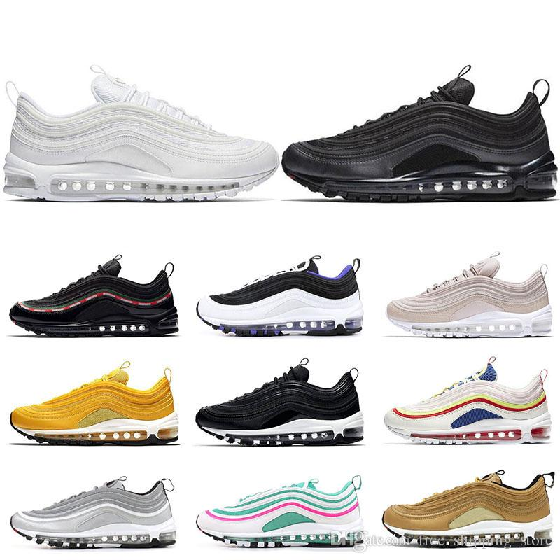 97 running shoes for men women Black Bullet Triple white OG Sliver Bullet mens trainers Hiking Jogging Walking Outdoor shoe sports sneakers