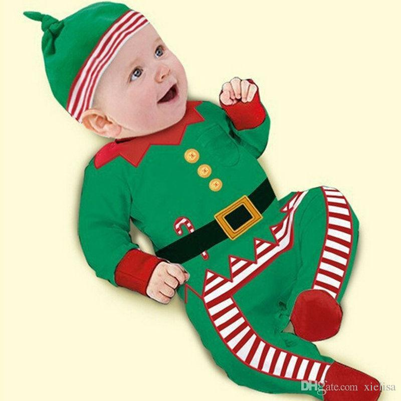 Christmas Baby Clothes For Baby Girls Boys Rompers Newborns Warm Romper With Foot Costume For Kids Cotton Bodysuits Natal Roupas