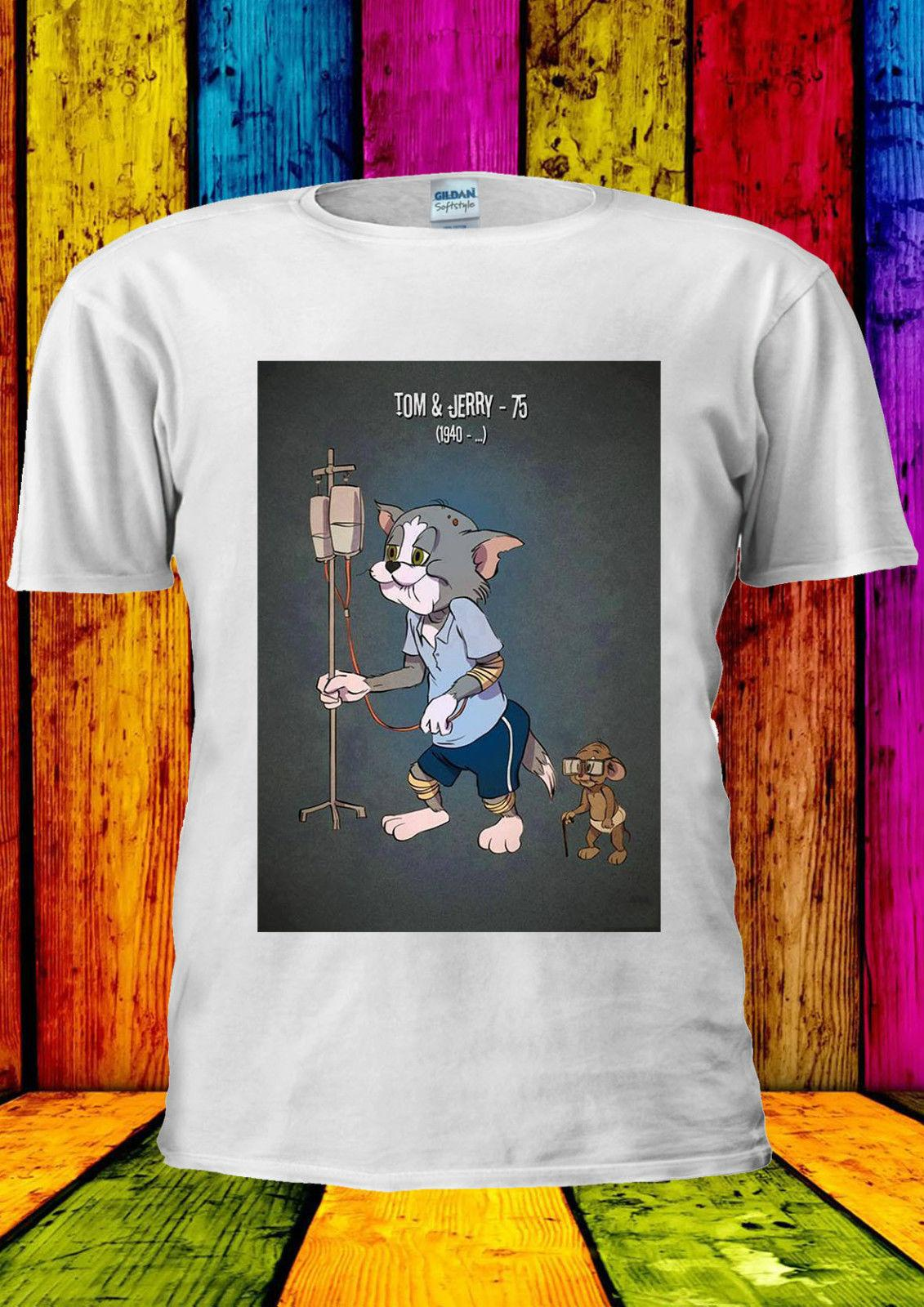 a3f0ca85daa Tom And Jerry Elderly Hospital Old T Shirt Vest Tank Top Men Women Unisex  Cartoon T Shirt Men Unisex New Fashion Tshirt One Day Only T Shirts Limited  T ...
