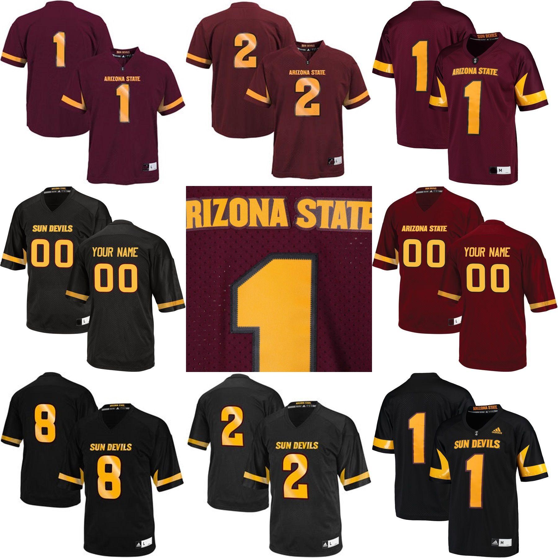 Hot Sale Customize NCAA Arizona State Sun Devils Jersey Mens Womens ... 3c928a6bc