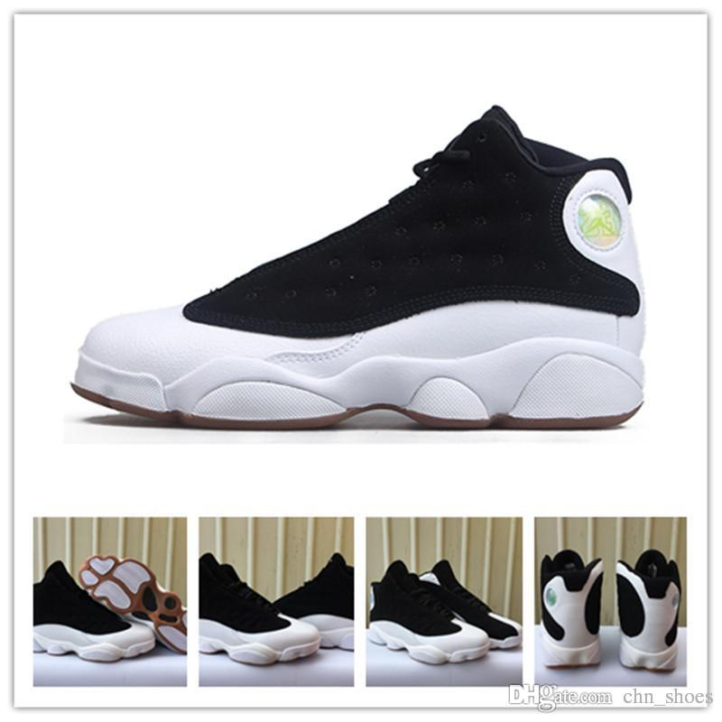 the best attitude 0862c f7a73 2018 New Arrival 13 Men Basketball Shoes Padans Black White Goden XIII  Women Sneakers With Shoe Box US5.5-13 Online with  74.54 Pair on  Chn shoes s Store ...