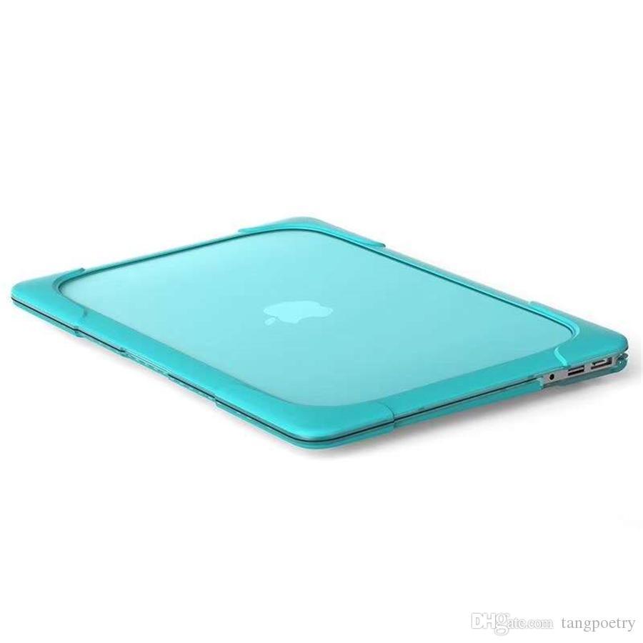 TPU cáscara dura a prueba de golpes caso Anti Scratch para Apple Mac libro Air Pro Retina 11 12 13 15 cubierta de la computadora portátil para Mac libro de 13.3 pulgadas