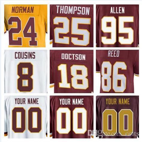 3d8190e66 2018 Washington Kirk Cousins Redskins Jersey Sean Taylor Alex Smith Josh  Norman Ryan Kerrigan Deangelo Hall American Football Jerseys 4xl Shirts From  Usa44