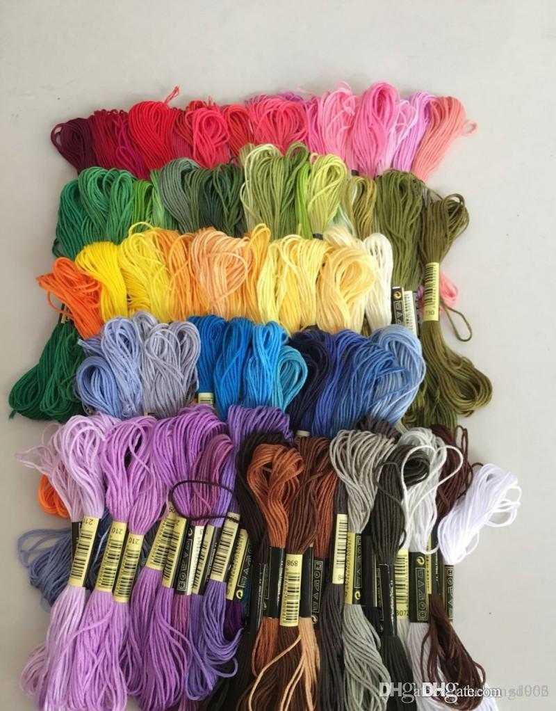Faden DIY Handarbeit Nähzubehör Kreuzstich Baumwolle Stickerei Linie Für Home Stitching Floss Werkzeug Für Frauen Viele Farbe 12qq ZZ
