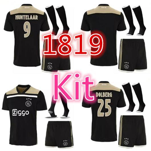 3c7c61078 Top Quality 2018 Ajax FC Soccer Jerseys Kit Uniform 18 2019 DOLBERG ZIYECH  HUNTELAAR YOUNES MEN Ajax Football Shirt Man Kits UK 2019 From Mbappe1108