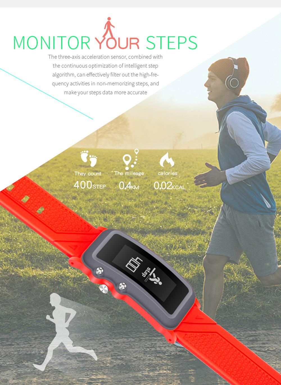 DB08 Smart Bracelet Heart Rate Blood Pressure Monitor Call/SMS Reminder IP68 Waterproof Sport Smart Wristband