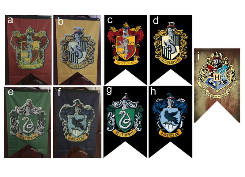 75*125cm Harry Potter Banners Flag Gryffindor Hufflepuff Flags Hogwarts  College Party Flag Home Wall Decoration Banner Flags Kids Gift 2018