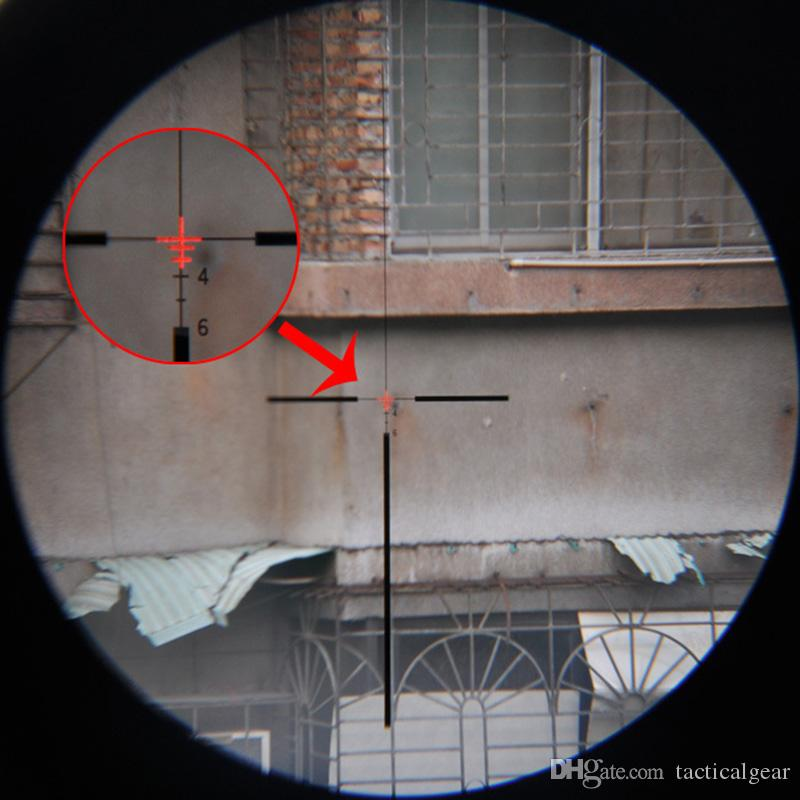 New Trijicon ACOG 4X32 Fiber Source Red Illuminated Rifle Scope w/ RMR Micro Red Dot Marked Version Black