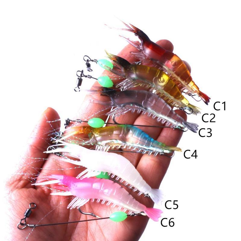 New Plastic octopus Fishing Lure Artificial Soft Prawn Squid bait 8cm 5.3g Shrimp Cuttlefish Lure Hook