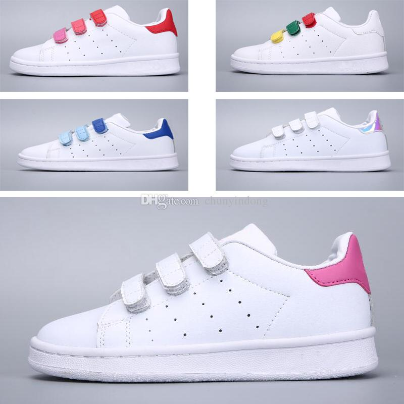 SUPER STAR kids NEW STANSMITH grils SNEAKERS CASUAL LEATHER Children shoes SPORTS JOGGING SHOES boys CLASSIC FLATS running SHOES