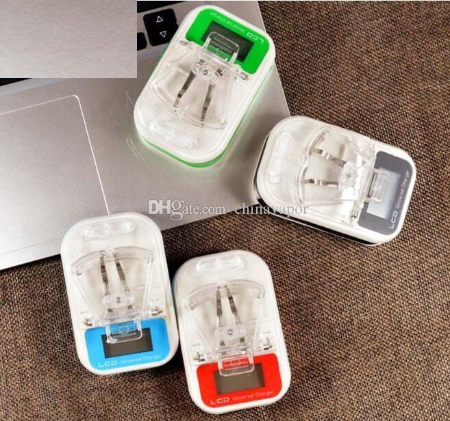 smart Mobile phone Universal Battery Charger LCD Indicator Screen cellphone Universal charger USB adapter USB Port home travel dock adapter