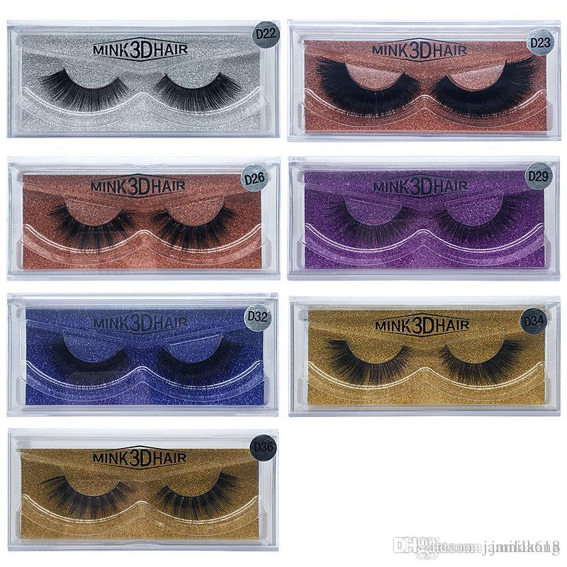Wholesale Natural Thick Long 3D Mink lashes False Eyelashes Handmade Full strip Fake Eye Lashes Mink 3D Hair Eyelash Extension Beauty Tool