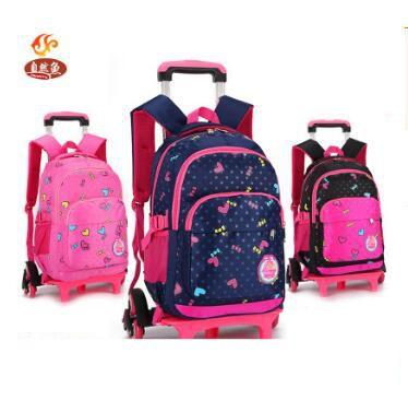 bdfe6d5bc9c2 Kid School Backpack On Wheels Trolley School Bag For Girls Kid S Luggage Trolley  Rolling Bag Children Wheeled Backpack For Kids Jansport Toddler Backpack ...