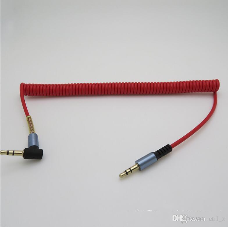 Cavo jack audio stereo da 90 gradi L da 3,5 mm con connettore jack maschio a maschio stereo con molla in metallo smartphone