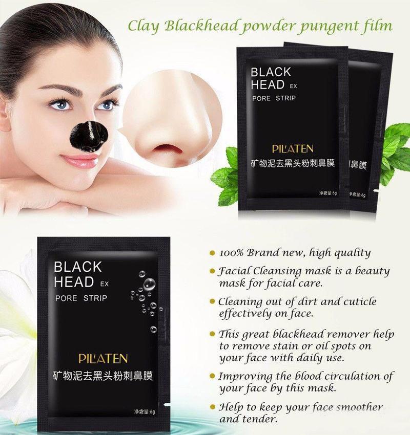 PILATEN Facial Minerals Conk Nose Blackhead Remover Mask Pore Cleanser Nose Black Head EX Pore Strip