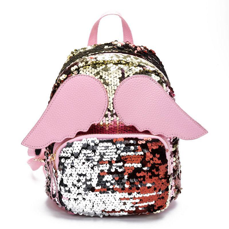 0d46f4846eda1 New 3D Girl School Bags Small Hologram Bag Shoulder Sequins Laser Sparkle Children  Backpack Girl Backpack Female Mochila Escolar Y18100704 Backpack For ...