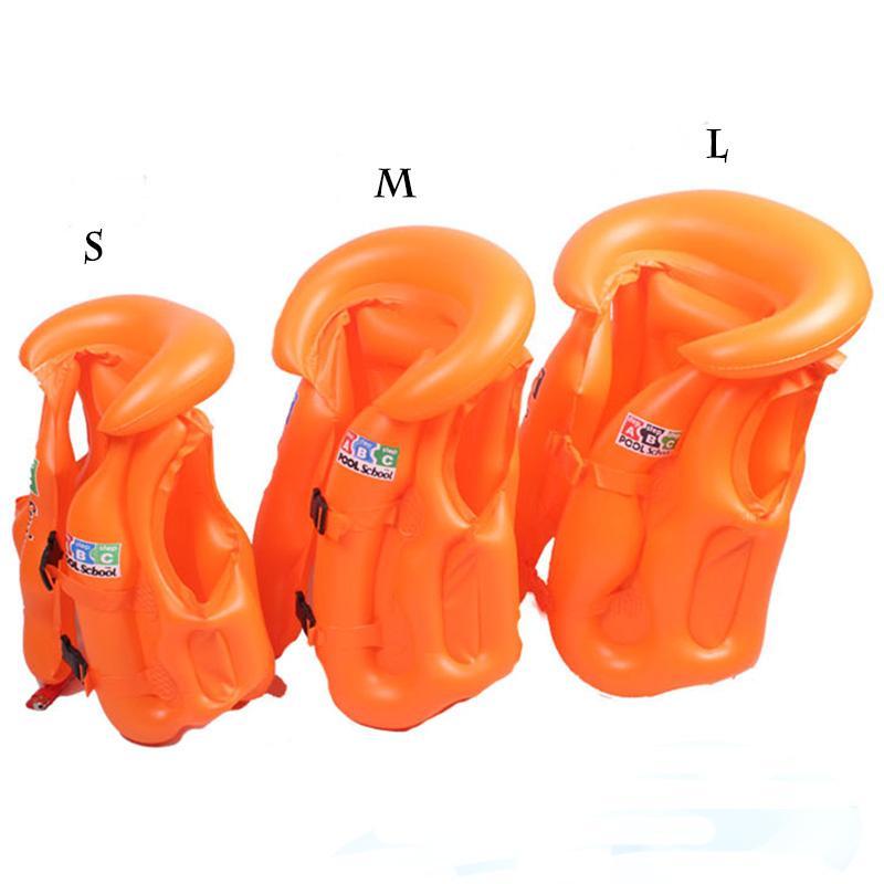 조정 가능한 어린이 어린이 아기 팽창 식 풀 플로트 구명 조끼 수영복 아동 수영 표류 안전 조끼