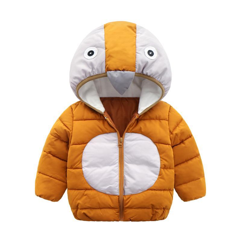 d0e38df571df HYLKIDHUOSE 2018 Baby Girl Boy Winter Coats Cute Penguin Children Coats  Hooded Warm Outdoor Kids Wadded Jacket Outerwear