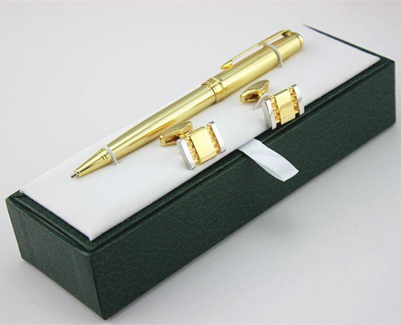 Ordinaire High Quality Golden Ballpoint Pen Cufflinks Set Luxury Gift Box Executive  Office Supplies Writing Pen +Pen Case Fountain Pen Sale Custom Fountain  Pens From ...