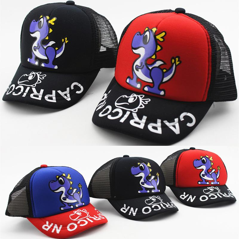 5098b5c5b9e 2018 Children Baseball Cap Baby Girls Hats Boys Snapback Cap Casquette  Letter Dinosaur Curved Hat Summer Mesh Sun Kids Caps Custom Caps Cool Caps  From ...