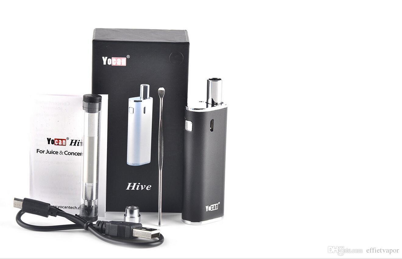 Newest Authentic Hive Kit Wax Oil 2 iin 1 Vaporizer Kits 650mah Battery CE3 O Pen Wax Oil Atomizers VS Yocan Evolve plus