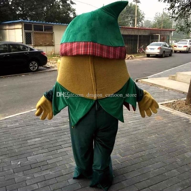 Wizard Maskottchen Kostüme Zeichentrickfigur Erwachsene Sz 100% Echt Bild 089