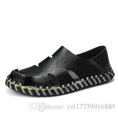 DEKESEN 2018 Genuine Leather Men Sandals Summer Men Shoes Beach Breathable Buckle Gladiator Sandals For Men Zapatillas Hombre discount online store online new arrival cheap online 5UljkFY