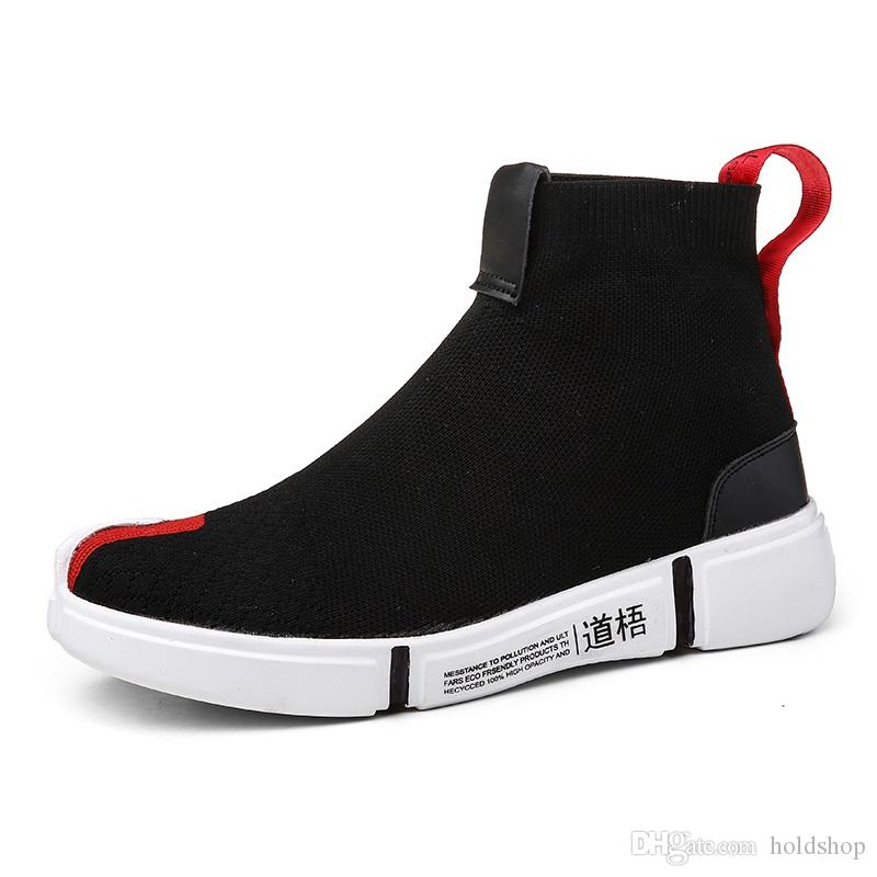 grossiste d1b4c 480ab LI-NING NYFW Wade Essence Men Breathable Lightweight Basketball Culture  Shoes High Top Knit Sports Sock Shoes Trainers Designer Sneakers