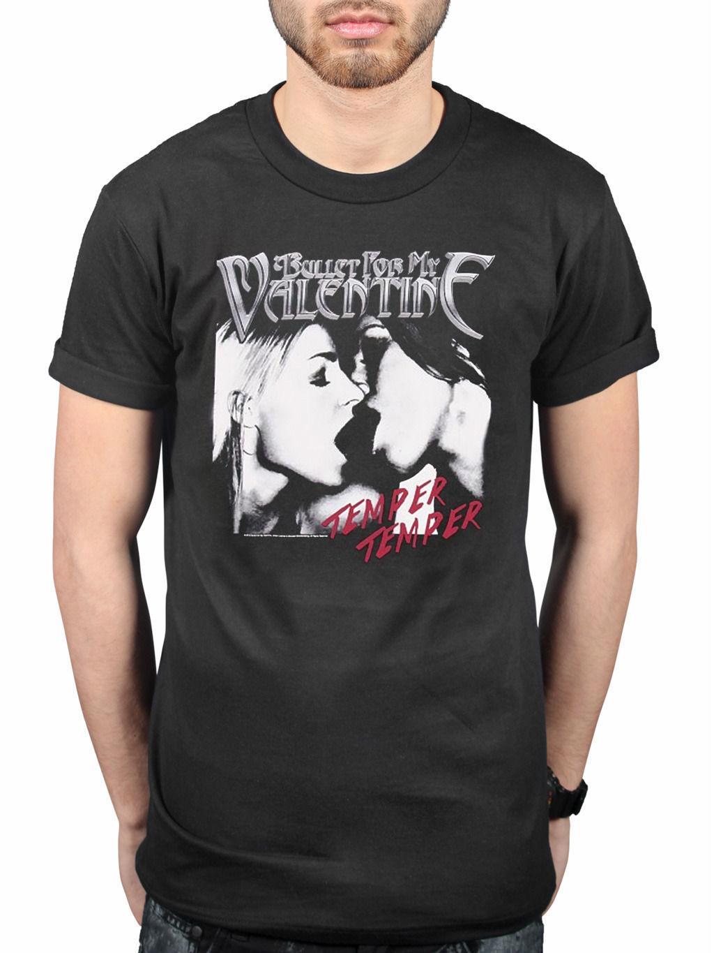 Official Bullet For My Valentine Temper Temper Kiss T Shirt Band
