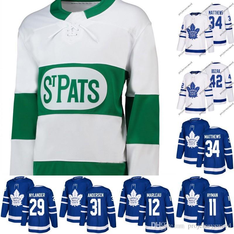 outlet store d08f0 4bda6 #12 Patrick Marleau Jersey Toronto Maple Leafs 31 Frederik Andersen 34  Auston Matthews 44 Morgan Rielly 47 Leo Komarov Hockey Jerseys