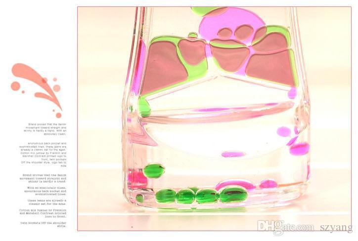 Floating Color Mix Illusion Timer Liquid Motion Visual Slim liquid Oil Glass Acrylic Hourglass Timer Clock Ornament Desk SN1249