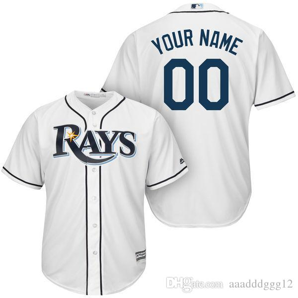 cheap for discount 09929 fd7c6 Custom Men's Tampa Bay Rays Players Jersey