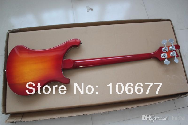 Frete Grátis Left Handed Personalizado Multi Color 4 Cordas Bass Guitar 4003 Rick Elétrico Baixo Coréia Do Sul acessórios importados
