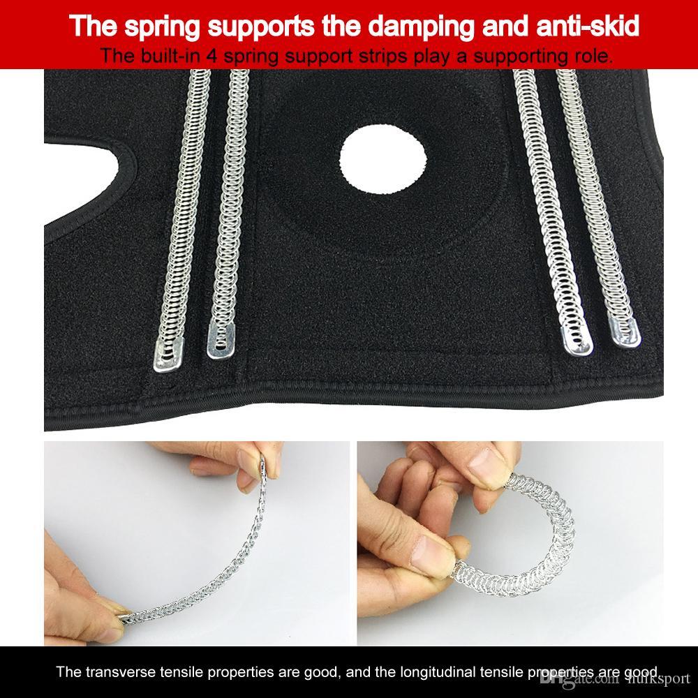 Montanhismo joelheiras joelho suporte para a execução de built-in 4 suporte de mola estabilizar a patela EVA patellar protection pads weightlifting