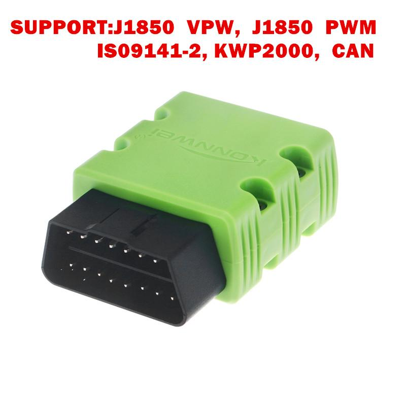 Konnwei KW902 mini ELM327 Bluetooth OBD-II Car Diagnostic Scan Tools Elm 327 OBD2 code reader scanner Support Android Phone