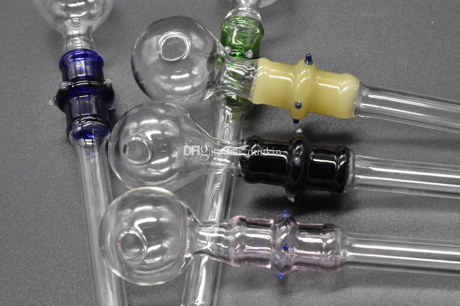 Alta qualidade Queimador de óleo De Vidro De Mão 14 cm 10mm Queimador de Óleo 0D Fumar Manipula Tubos Mini Curvo Tubulação De Fumo Barato fumar acessórios