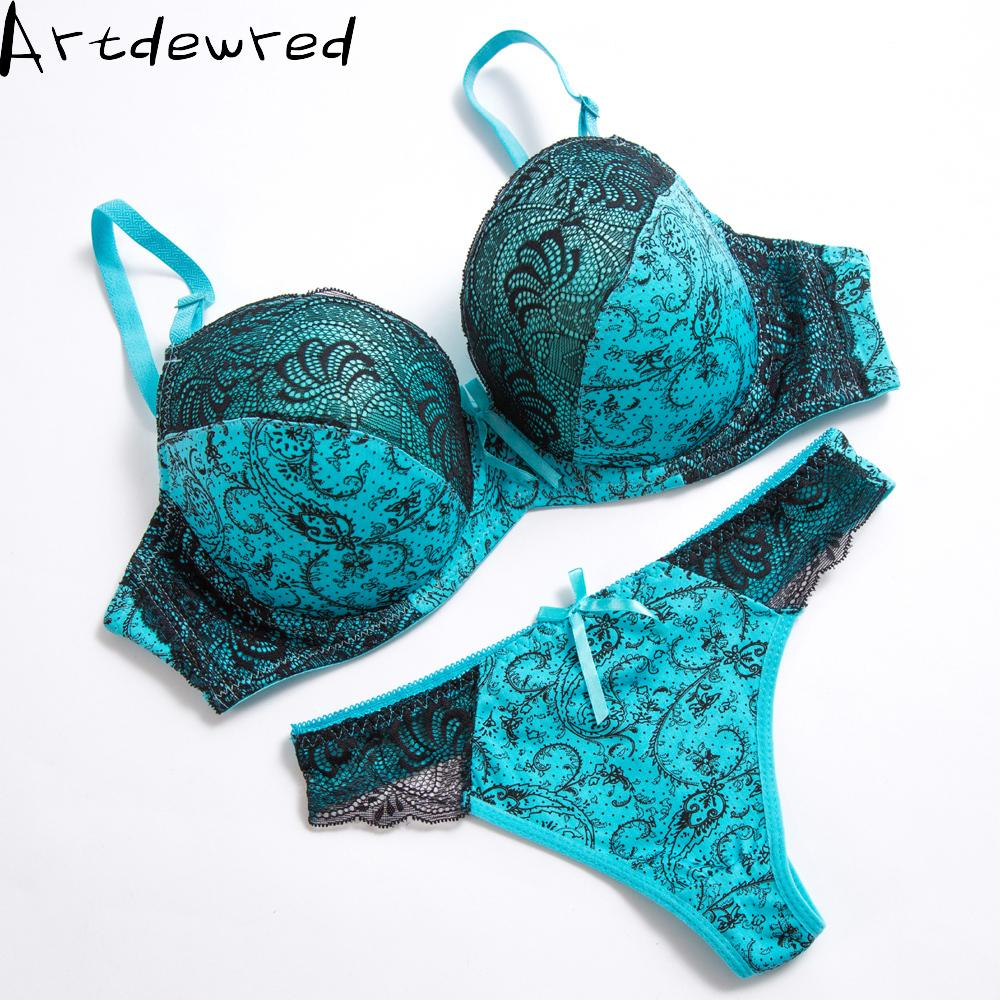 0e390e78d07a1 Sexy Thong Lace Push Up Bra Set Lingerie Women Underwear Sets ...