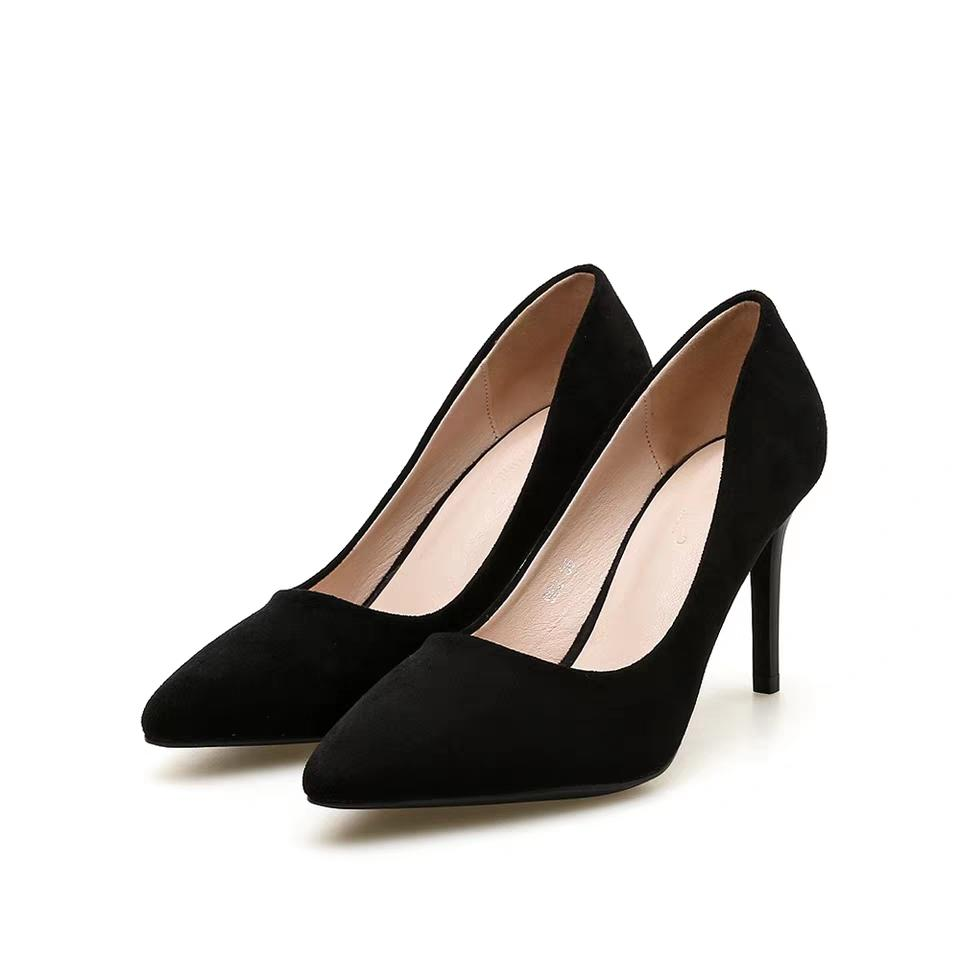 c829e66f6199 Joker Professional Black Dress Work Shoes Fashion Sexy High Heel Women S  Fine With Small Fresh Pointed High Heels Basketball Shoes Mens Shoes From  Bubblesea ...