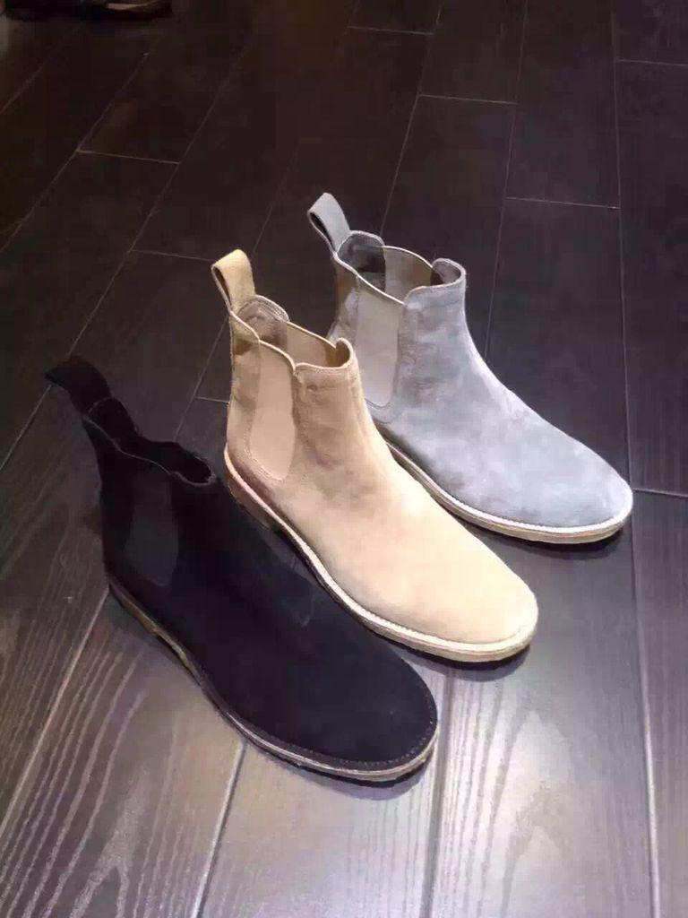 be52e0642 2017 NEW LIST Chelsea Men Boots Kanye West Fashion Genuine Suede Leather  Fashion Life Style Handmade Shoes Ankle Booties Combat Boots For Women From  ...