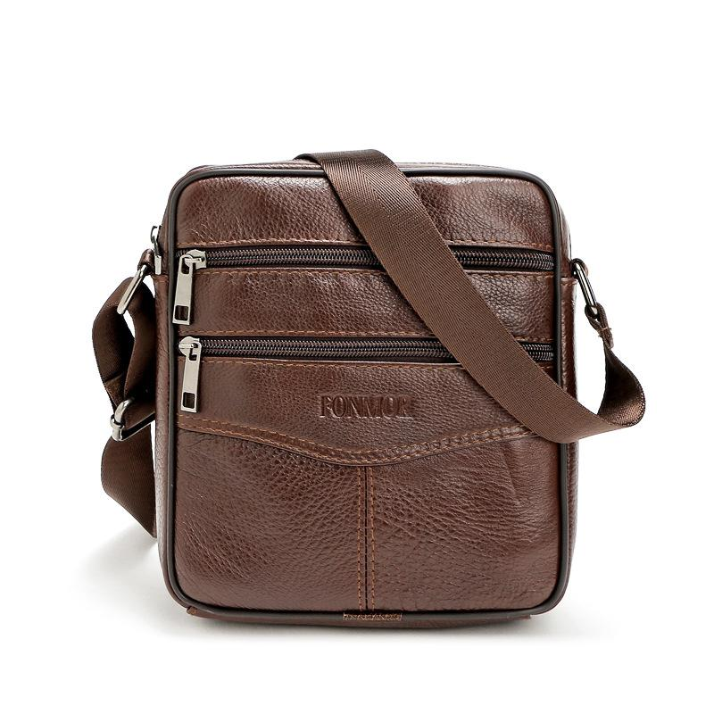Genuine Leather Men S Bag Men Leather Messenger Shoulder Bags Travel  Business Cowhide Crossbody Bag Male Small Ipad Hold Ladies Purses Tote  Handbags From ... 7c540eefbd3a8