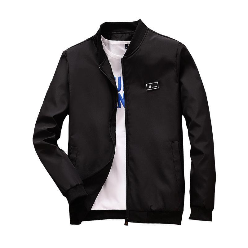 eee2a6264fe8e9 TOP 2018 Spring Summer Mens Jackets And Coats Thin Slim Fit Bomber Jackets  Black Stand Collar Jaqueta Masculina Hot Sale Cheap Mens Jackets And Coats  ...
