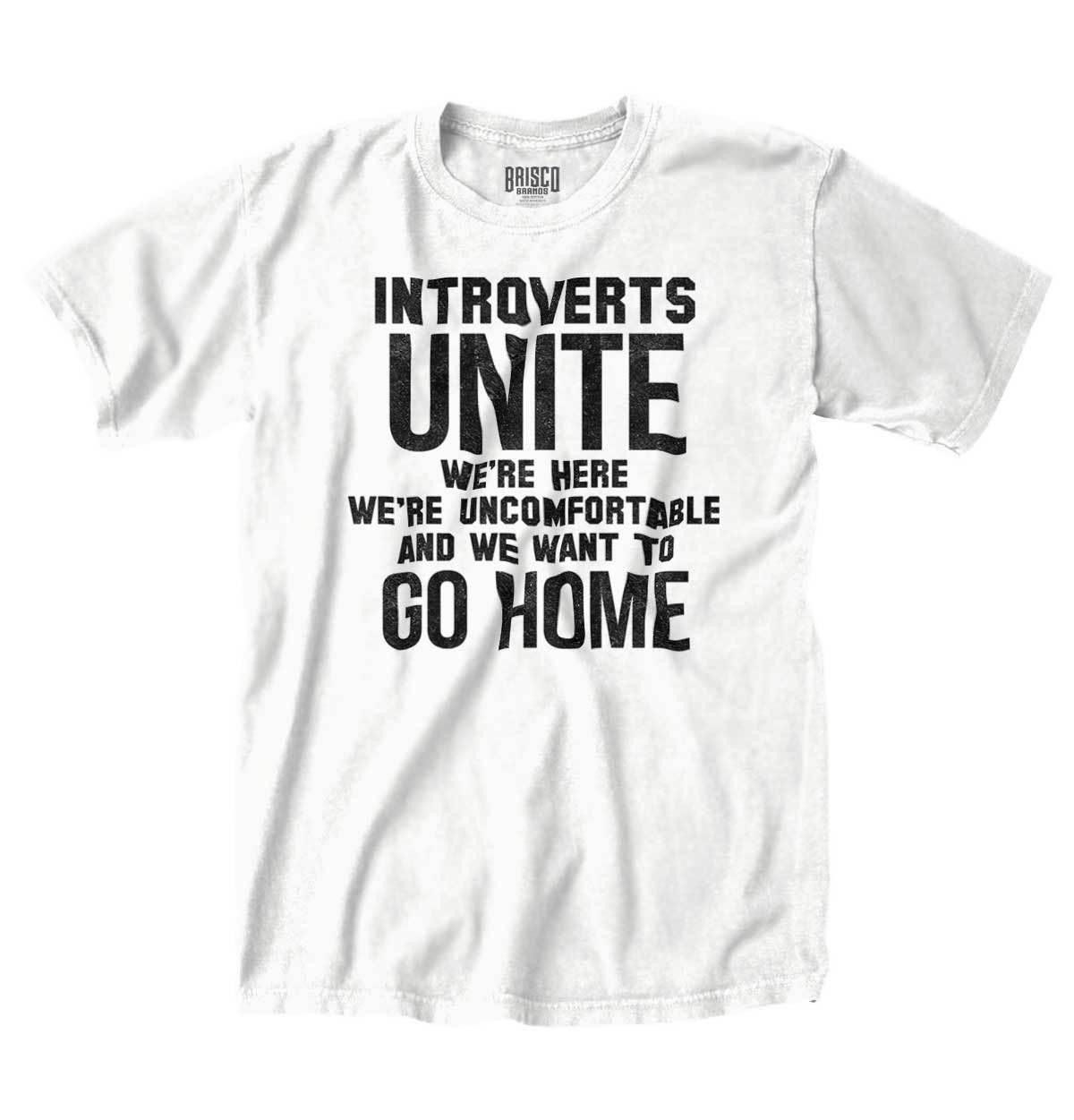 9bc9e5e6a Details Zu Introvert Unite Uncomfortable Go Home Funny Shirt Cool Gift T  Shirt Funny Unisex Casual Tee Gift Fun Tee Shirt Shop Online T Shirts From  ...